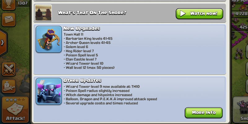 'Clash of Clans Game Updates'