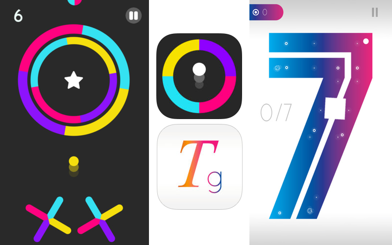 'Color Switch and Typographical Game Image'
