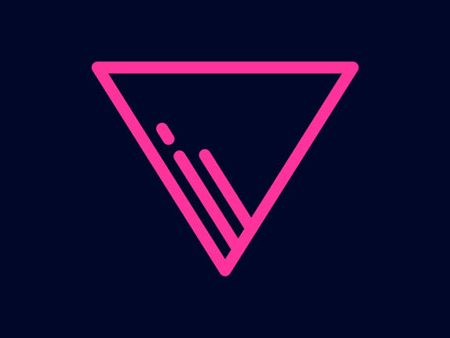 neon paths icon