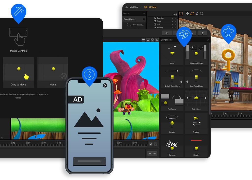 Buildbox Game Maker Video Game Software - roblox wizard training simulator
