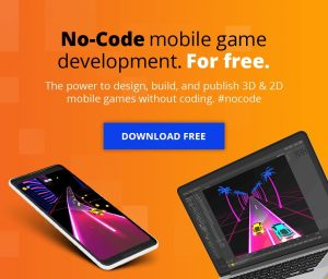 no-code mobile game development for free design build and publish 3d games and 2d games without coding #nocode no code